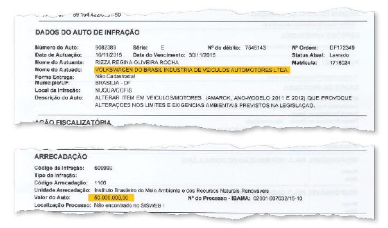 Documento da ação fiscalizatória do Ibama (Foto: Reprodução)
