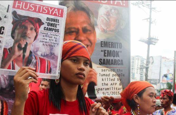 Protestos pelo assassinato de ecologistas, o passado setembro em Mindanao, Filipinas.  / GLOBAL WITNESS