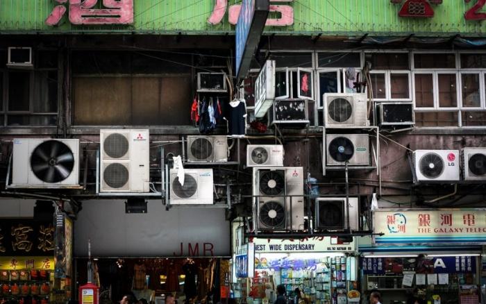 Aparelhos de ar-condicionado em Hong Kong Foto Niall Kennedy-Creative Commons