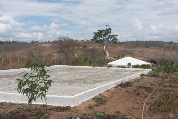 Cisterna construída na região do semiárido, na Paraíba - FotoCamila Bohem/Agência Brasil