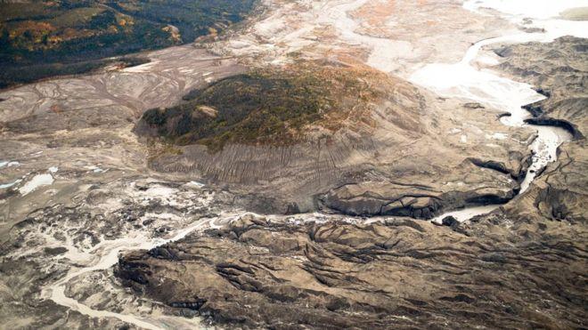 Kaskawulsh é uma das maiores geleiras do rio Yukón no Canadá. DAN SHUGAR/UNIVERSIDADE DE WASHINGTON TACOMA